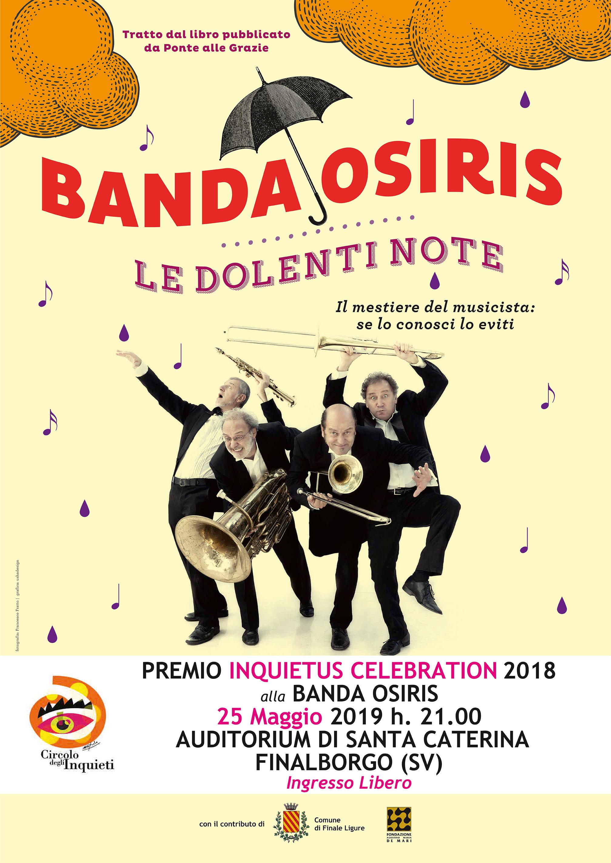25 Maggio 2019 – INQUIETUS CELEBRATIONS alla BANDA OSIRIS