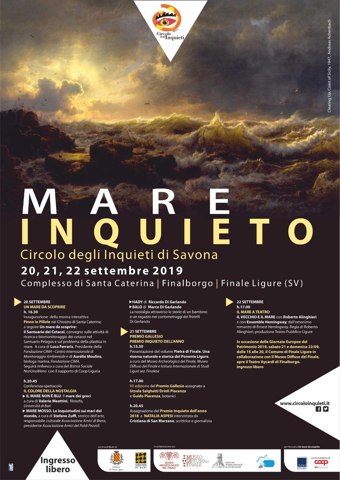 Un Mare Inquieto 20, 21, 22 settembre 2019